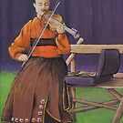 Fiddler in Traditional Norwegian Costume by Michael Beckett