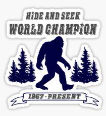 Hide and Seek World Champion Bigfoot Sticker