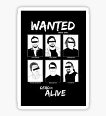 Wanted Grunge Icons Sticker