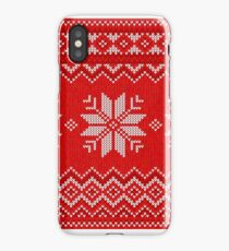 Christmas Knitted  pattern  iPhone Case/Skin