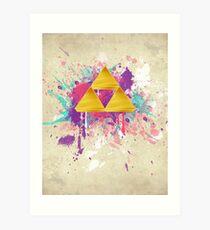 Triforce Splash Art Print
