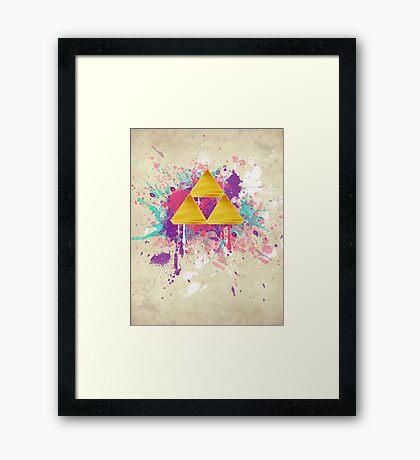 Triforce Splash Framed Print