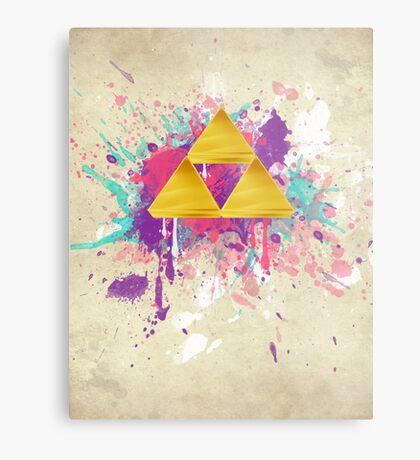 Triforce Splash Metal Print