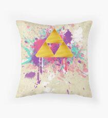 Triforce Splash Throw Pillow