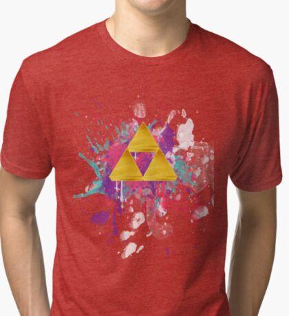 Triforce Splash Tri-blend T-Shirt