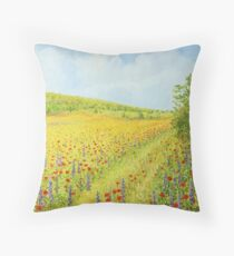 Sea of Blossom II Throw Pillow