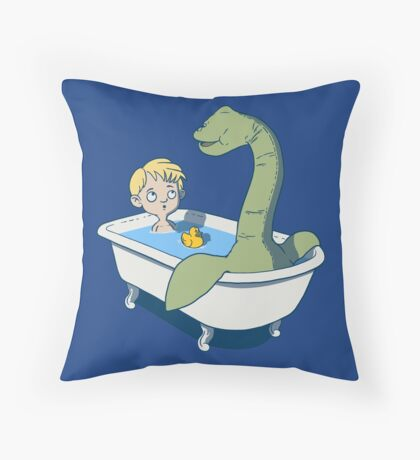 There's something in my bath!! Throw Pillow
