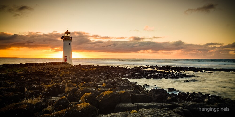 Port Fairy Griffith Island Lighthouse Sunrise by hangingpixels