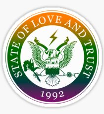 State of Love and Trust Sticker