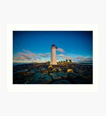 Port Fairy Griffith Island Lighthouse Sunrise Art Print