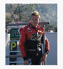 James Courtney Qld Raceway 2012 Photographic Print