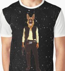 Han Solo Star Wars Dog Graphic T-Shirt