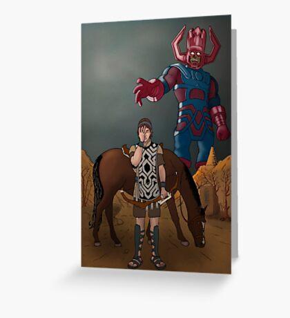 Shadow of the... Galactus?? Greeting Card