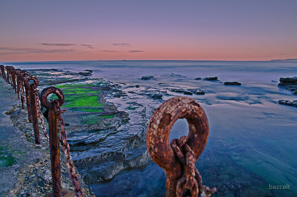 Rust 'n Rocks, Sunset Ocean and Alage by bazcelt