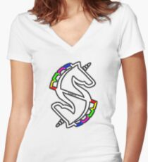 Nissan Stagea Women's Fitted V-Neck T-Shirt