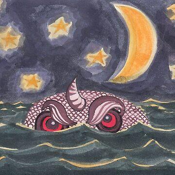 Sea Monster by dinahstubbs