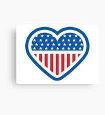 American Patriot Heart Canvas Print