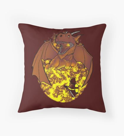 The Fire: an epic fight. Throw Pillow