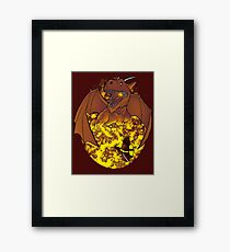 The Fire: an epic fight. Framed Print