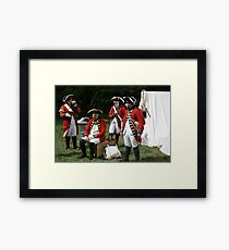 reenactors portraying british soldiers Framed Print