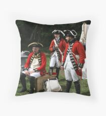 reenactors portraying british soldiers Throw Pillow