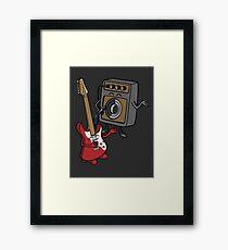 I wanna rock! Framed Print