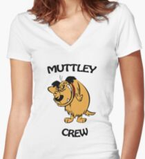 Muttley Crew  Women's Fitted V-Neck T-Shirt