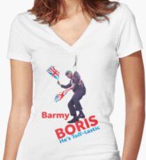 Boris Johnson Women's Fitted V-Neck T-Shirt