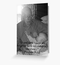 """""""Proverbs 13:22""""  by Carter L. Shepard Greeting Card"""