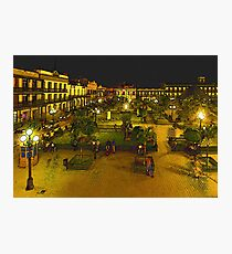 Plaza de La Libertad-Tampico, MX, Digital Interpretation Photographic Print
