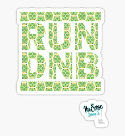 RUN DNB Design - FLORAL Sticker