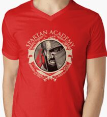 Spartan Academy - Full Color Version Men's V-Neck T-Shirt