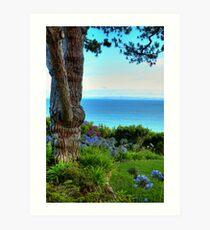 Blue Waters In Palos Verdes California Art Print