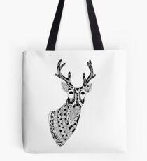 Reindeer Illustration Tote Bag