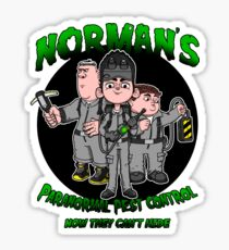 Norman's Paranormal pest control. Sticker