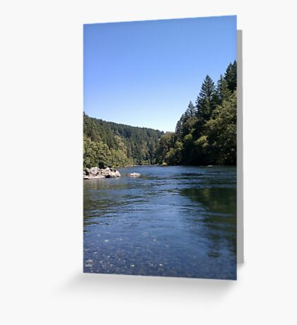 Sunny Day At The River Greeting Card