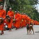 Monks at Dawn, Laos by styles