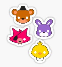 FNAF // Freddy's Faces Pattern Cute Kawaii Chibi for kids Sticker