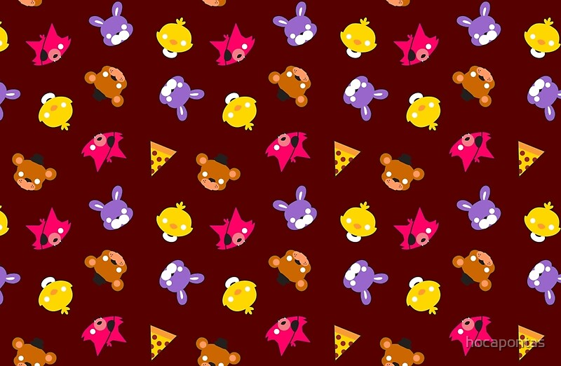 fnaf freddy s faces pattern cute kawaii chibi for kids