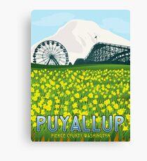 Vintage Puyallup Washington Poster Canvas Print