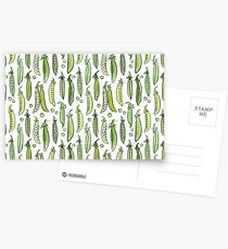 Aquarell grüne Erbse Postkarten