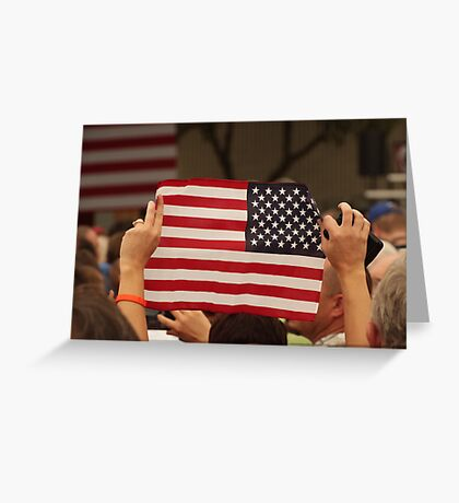Backwards Patriotism Greeting Card