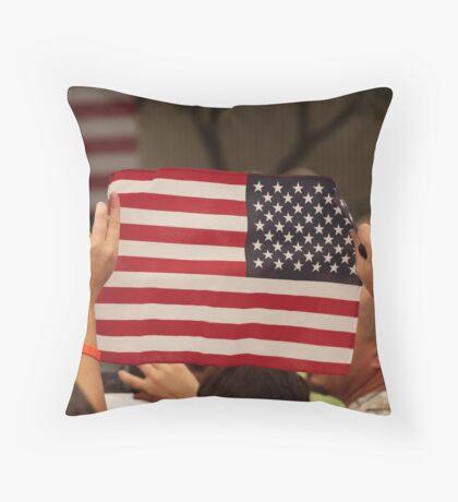 Backwards Patriotism Throw Pillow