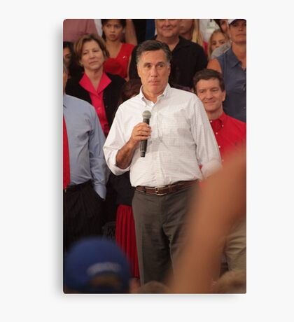 Mitt Romney Abashed Canvas Print