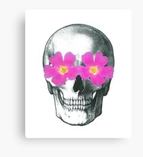 Flowering skull  Canvas Print