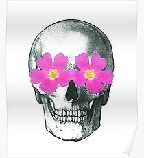 Flowering skull  Poster