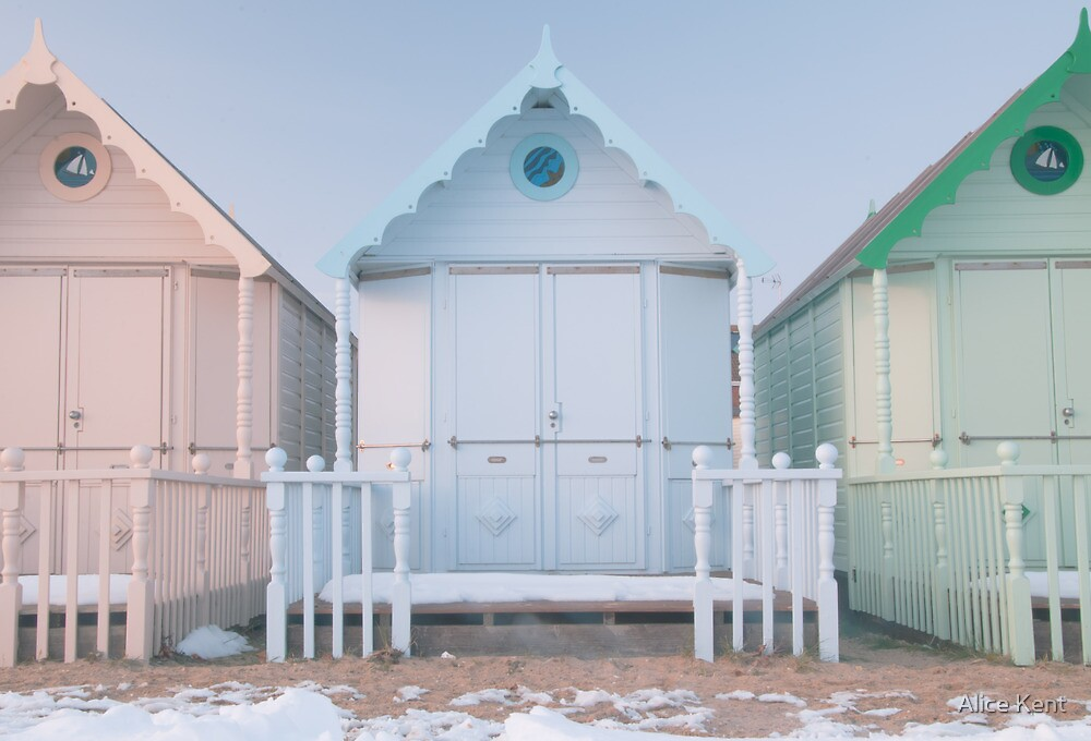 Beach Huts by Alice Kent