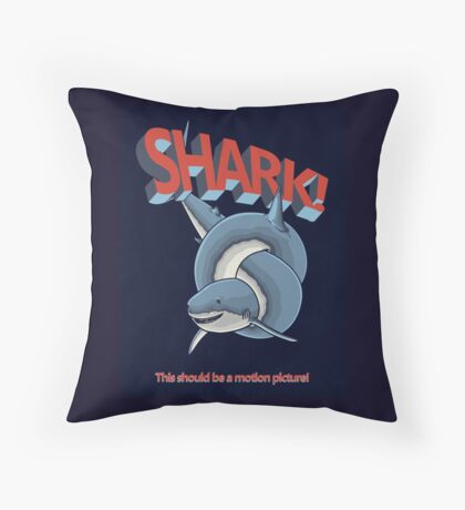 Shark! Throw Pillow