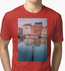 Nyhavn, Copenhagen Tri-blend T-Shirt
