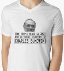 Bukowski Crazy V-Neck T-Shirt